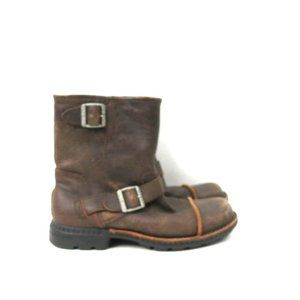 Buckled Brown Leather Ugg Snow Boots Insulated